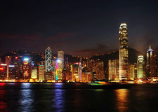 Nightscenes of Hong Kong Royalty Free Stock Photography