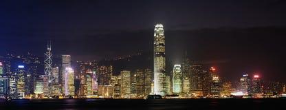 Nightscenes of Hongkong Royalty Free Stock Images