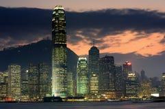 Nightscenes of Hongkong Royalty Free Stock Photography