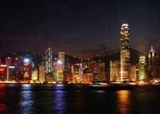 Nightscenes van Hongkong Royalty-vrije Stock Fotografie