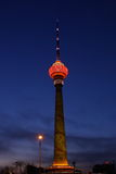 nightscense of cctv tower royalty free stock images