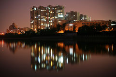 Nightsense in Qinhuai Fluss Lizenzfreies Stockfoto