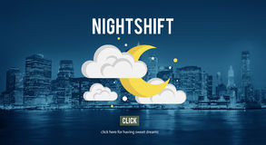 Nightshift Business Evening Hours Overtime Concept Stock Photography