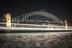 Nightshot της γέφυρας στο Σύδνεϋ Στοκ Εικόνες