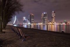 Nightshot Роттердама Стоковая Фотография