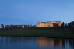 Nightshot del castello di Frederiksberg a Copenhaghen immagini stock libere da diritti