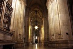 Nightshot du passage arqué à Vienne Townhall Photos libres de droits