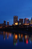 Nightshot of edmonton downtown Stock Image