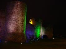 Nightshot en el castillo del ajuste, Irlanda imágenes de archivo libres de regalías