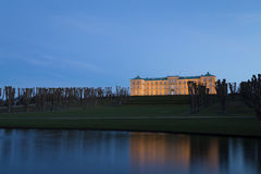 Nightshot Frederiksberg kasztel w Kopenhaga obrazy royalty free
