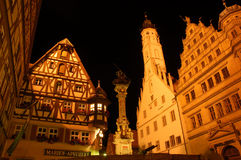 Nightshot in German town Royalty Free Stock Photography