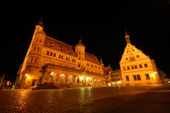 Nightshot in German town Stock Photography