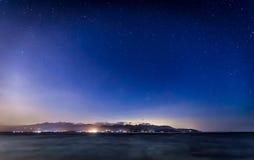 Nightshot in the Gili's island Stock Image