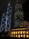 Nightshot in Hongkong Royalty-vrije Stock Foto