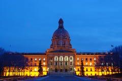 Nightshot législatif de construction Photo stock
