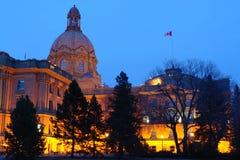 Nightshot legislativo della costruzione Fotografia Stock