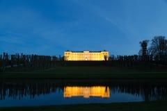 Nightshot van Frederiksberg-kasteel in Kopenhagen stock foto