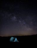 Nightsky с milkyway стоковое изображение