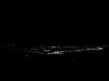 Kodaikanal Nightsky and cityscape. Nightsky with cityscape at Kodaikanal in Southern India Stock Photography