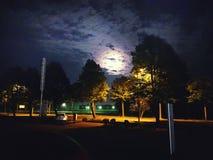 Nightsky. Moon Urban night Dark Stock Image