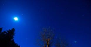 Nightsky. Nice Nightsky with stars and the moon Royalty Free Stock Photos