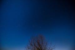 Nightsky. Nice Nightsky with stars and the moon Stock Photo