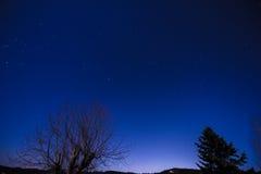 Nightsky. Nice Nightsky with stars and the moon Stock Photography