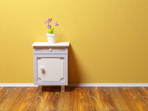 Nightstand with flower Royalty Free Stock Photography
