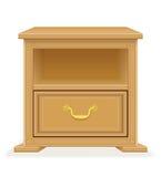 Nightstand furniture vector illustration Stock Photo