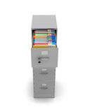 Nightstand for stationery folders with documents Stock Photo