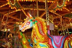 Nighttime веселый идет лошадь круга Стоковое Изображение RF