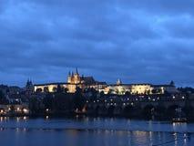 Nighttime в Праге, чехии Стоковые Изображения RF