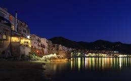 Nighttime в Сицилии Стоковое Фото