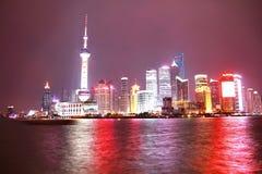 nighttime в Шанхае Стоковое Изображение