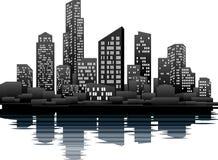 nighttime города бесплатная иллюстрация