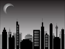 nighttime городского пейзажа Стоковые Фото