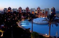 nighttime гостиницы самомоднейший Стоковые Фото