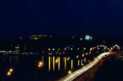 Nighttime Киев Стоковая Фотография