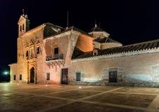 Nighttime на монастыре Девственнице Del Saliente Стоковые Фотографии RF