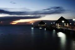 Nighttime на Bangsaen, Таиланде Стоковое фото RF