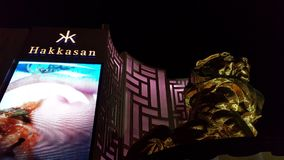 Nighttime прокладки Вегас Эм-Джи-Эм Гранда Стоковая Фотография RF