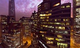 Nighttime Сантьяго de Чили Стоковые Изображения RF