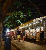 Рынок nighttime стоковое фото rf