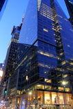 Nighttime architecture near Bryant Park,NYC,2015 Stock Photos