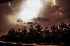 Nighttime błyskawica Zdjęcia Stock