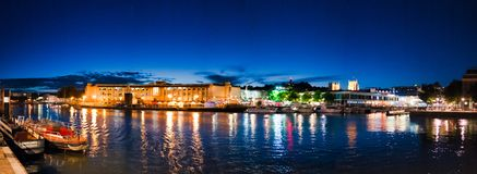 Nighttime Bristol zdjęcia stock