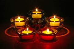 Nighttime Candles Stock Photo