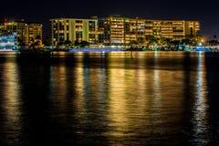 Nighttime в clearwater Стоковая Фотография RF