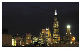 Nighttime de Chicago Fotografia de Stock Royalty Free