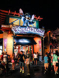 Nighttime at Downtown Disney Orlando, Florida. It's nighttime at the World of Disney store at Downtown Disney Orlando, Florida stock photos